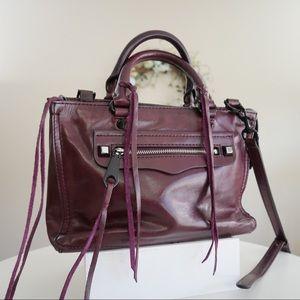 Rebecca Minkoff Leather Micro Regan Satchel Cherry